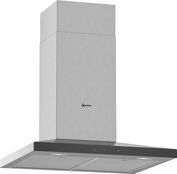Neff D64QFM1N0B N50 Slim pyramid Chimney hood Stainless steel-Appliance People