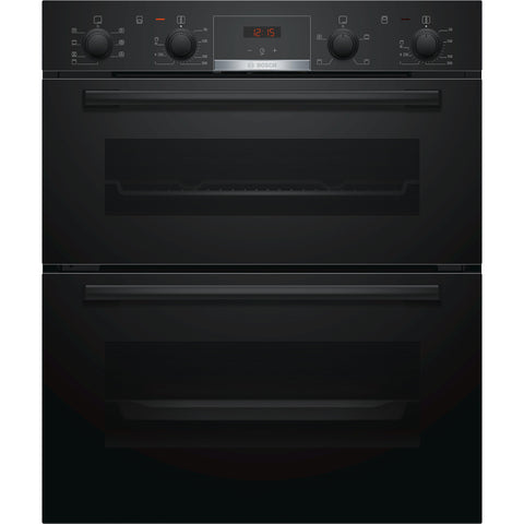 Bosch Series 4 NBS533BB0B Built-under Double Oven Black-Appliance People