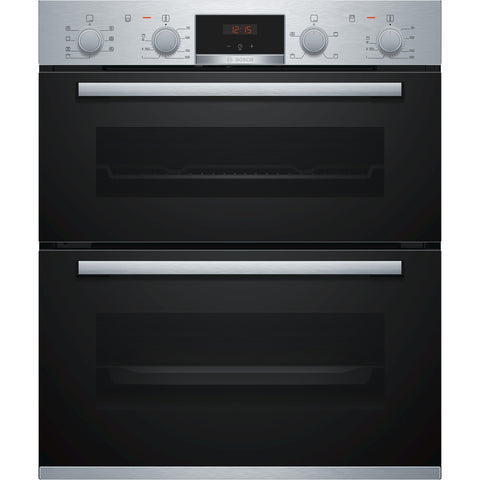 Bosch Series 4 NBS533BS0B Built-under Double Oven Brushed Steel-Appliance People