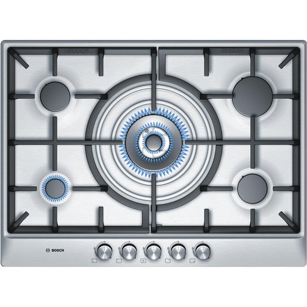Bosch Series 6 PCQ715B90E 5 Burner Gas Hob Stainless Steel-Appliance People