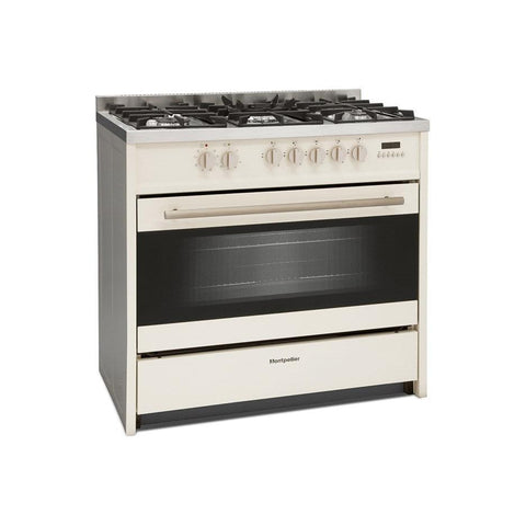 Montpellier MR95DFCR 90CM SINGLE CAVITY DUAL FUEL RANGE COOKER - Cream * * ONLY 3 LEFT IN STOCK * *