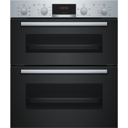 Bosch Serie 2 NBS113BR0B Built Under Electric Double Oven - Stainless Steel - A/B Rated