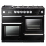Rangemaster NEX110SODFFBL/C Nexus 110 Dual Fuel Range Cooker With Steam – BLACK