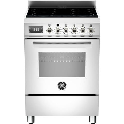 Bertazzoni 60cm Professional range cooker with 4 zone induction and 1 electric oven Stainless Steel-Appliance People