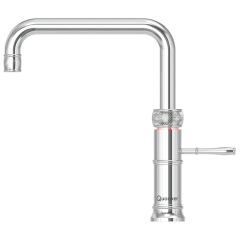 Quooker 3CFSCHR PRO3 Classic Fusion Square 3-in-1 Boiling Water Tap in Chrome