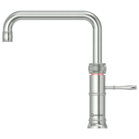 Quooker 3CFSRVS PRO3 Classic Fusion Square 3-in-1 Boiling Water Tap in Stainless Steel