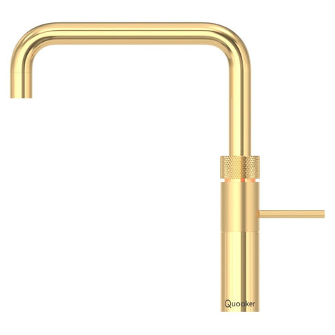 Quooker 3FSGLD PRO3 Fusion Square 3-in-1 Boiling Water Tap in Gold