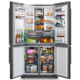 Rangemaster RSXS19BL/C French Style Four Door Fridge Freezer With VSeal in Black