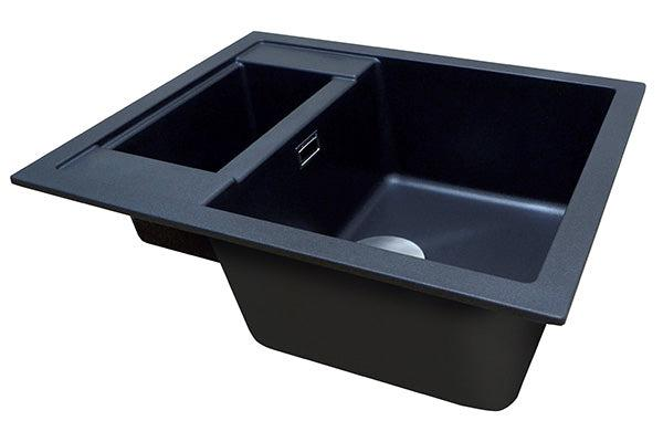 The 1810 Company SHARDUNO 615i Inset Sink Metallic Black-Appliance People