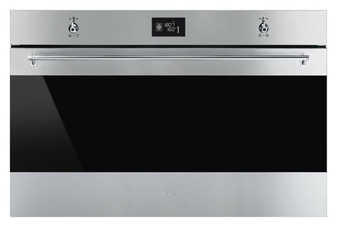 Smeg SF9390X1 90cm Classic Stainless Steel and Eclipse Glass Multifunction Single Oven