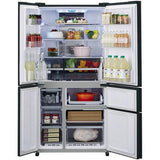 Sharp SJSX830FBK Five Door American Style Refrigerator in Black * * Save £700 - very limited offer * *