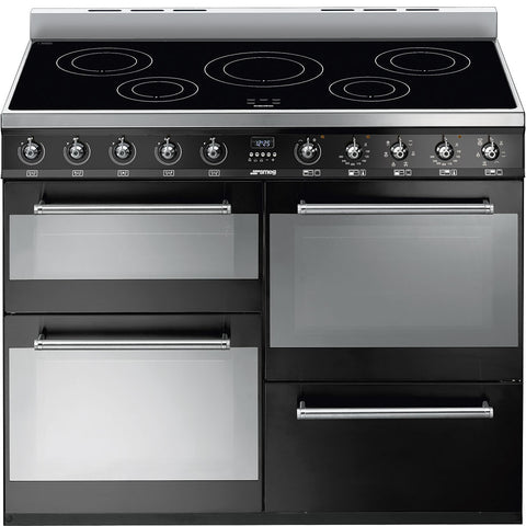"Smeg SYD4110IBL 110cm ""Symphony"" 4 cavity Cooker with 2 side opening oven doors & Induction hob"