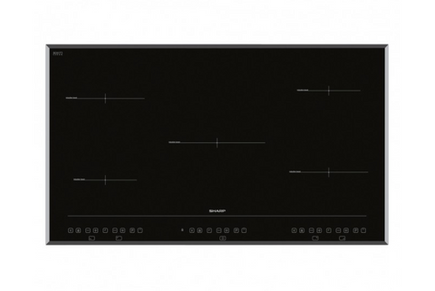 Sharp KH-9I26CT00 90cm Induction 5 Zone Hob with Touch Control Timer in Black