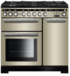 Rangemaster EDL90DFFIV/C Encore Deluxe 90cm Dual Fuel Range Cooker Ivory 117200-Appliance People