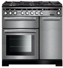 Rangemaster EDL90DFFSS/C Encore Deluxe 90cm Dual Fuel Range Cooker Stainless Steel 117240-Appliance People