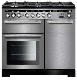Rangemaster EDL100DFFSS/C Encore Deluxe 100cm Dual Fuel Range Cooker Stainless Steel 117250-Appliance People