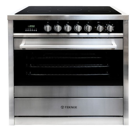 Teknix TKC90ASS 90cm Electric Ceramic Range Cooker in Stainless Steel