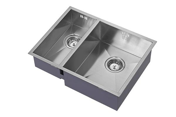 The 1810 Company ZENDUO 180/340U BBR Undermount Sink Stainless Steel-Appliance People