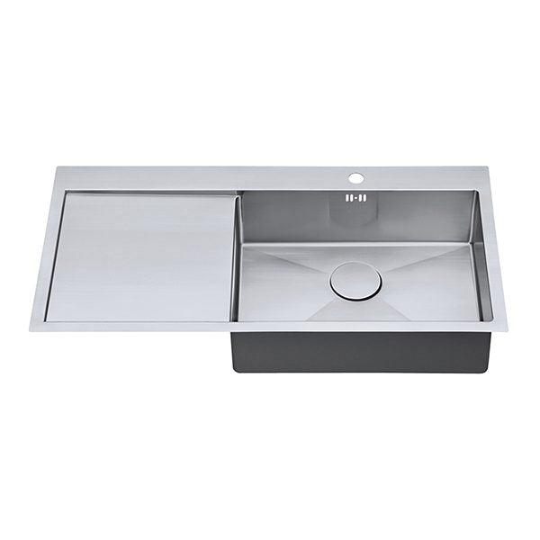 The 1810 Company ZENUNO15 55 I-F BBR Undermount Sink Stainless Steel-Appliance People