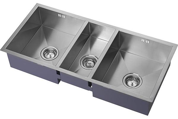 The 1810 Company ZENTRIO 340/180/340U Undermount Sink Stainless Steel-Appliance People