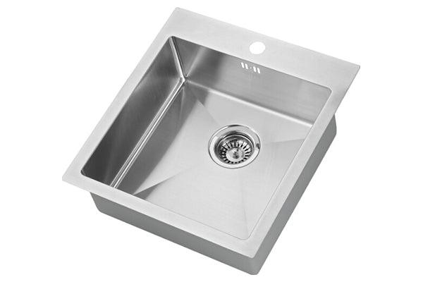 The 1810 Company ZENUNO 400 I-F 15R Undermount Sink Stainless Steel-Appliance People