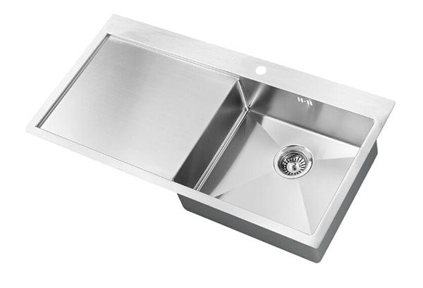The 1810 Company ZENUNO 5 I-F 15R BBR Undermount Sink Stainless Steel-Appliance People