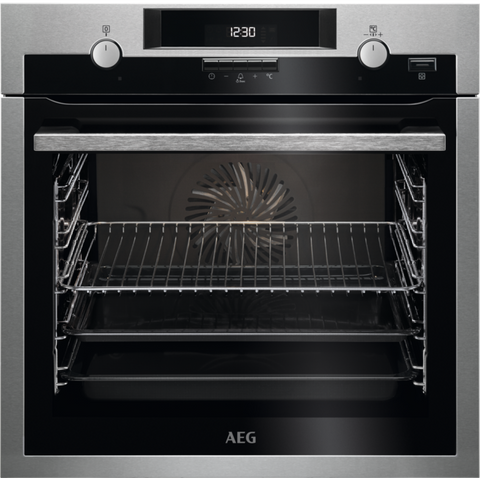 AEG BCS551220M SteamBake Electric Oven Stainless Steel-Appliance People