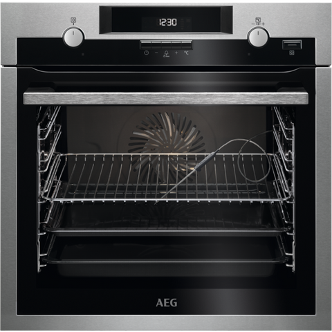 AEG BCS552020M SteamBake Electric Oven Stainless Steel-Appliance People