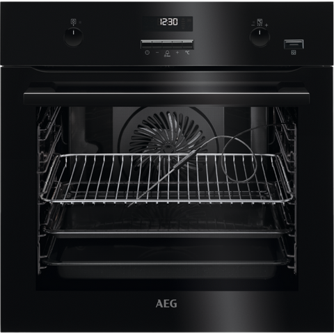 AEG BPE552220B SteamBake Electric Oven Black-Appliance People