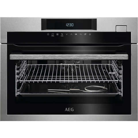AEG KSE782220M SteamBoost Steam Compact Oven Stainless Steel-Appliance People