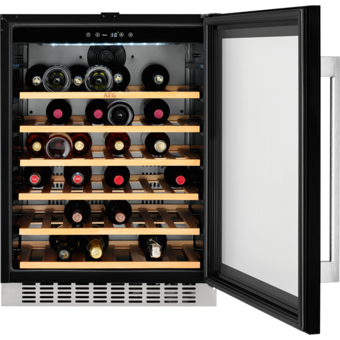 AEG SWE66001DG Built-in Under Counter Refrigerator Wine cooler Black-Appliance People