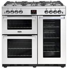 Belling Cookcentre 90G 90cm Gas Range Cooker Professional Stainless Steel-Appliance People