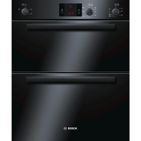 Bosch HBN13B261B 60cm Built-under Double Oven Black-Appliance People