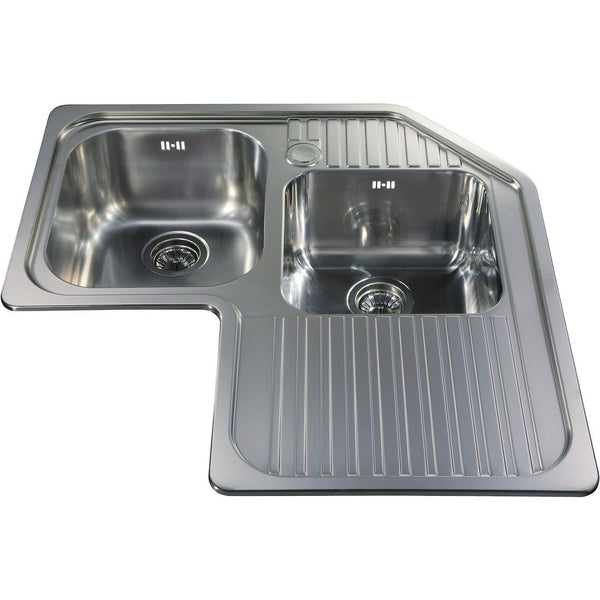 CDA CCP3SS Corner inset sink Stainless Steel-Appliance People