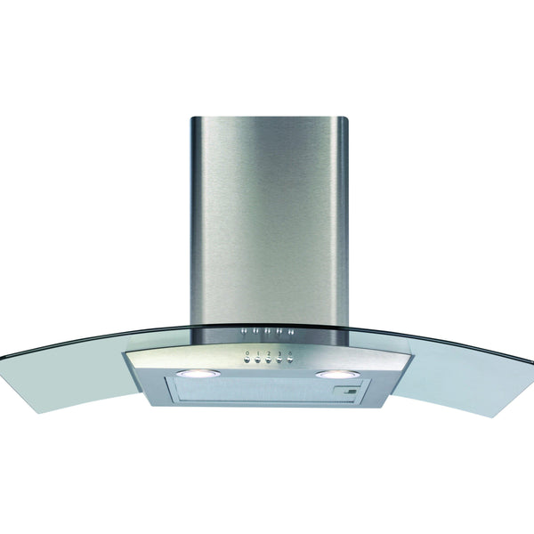 CDA ECP82SS 80cm curved glass extractor Stainless Steel-Appliance People
