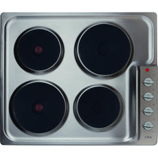 CDA HE6051SS Four plate electric hob Stainless Steel-Appliance People