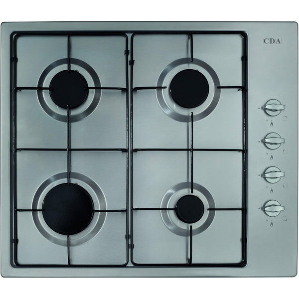 CDA HG6150SS Four burner gas hob Stainless Steel-Appliance People