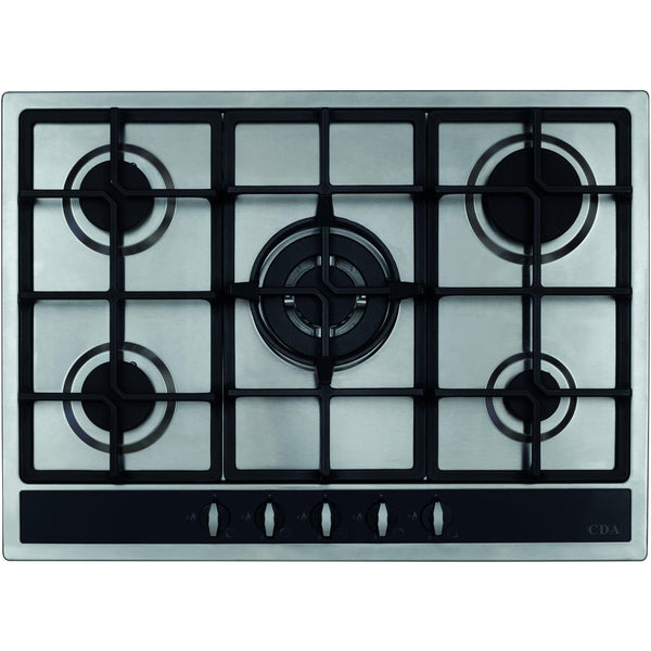 CDA HG7350SS Five burner gas hob Stainless Steel-Appliance People