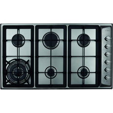 CDA HG9320SS Six burner gas hob Stainless Steel-Appliance People