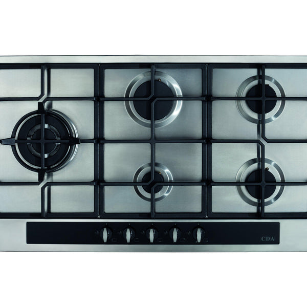 CDA HG9350SS Five burner gas hob Stainless Steel-Appliance People
