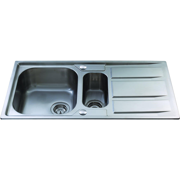 CDA KA82SS Inset 1.5 bowl sink Stainless Steel-Appliance People