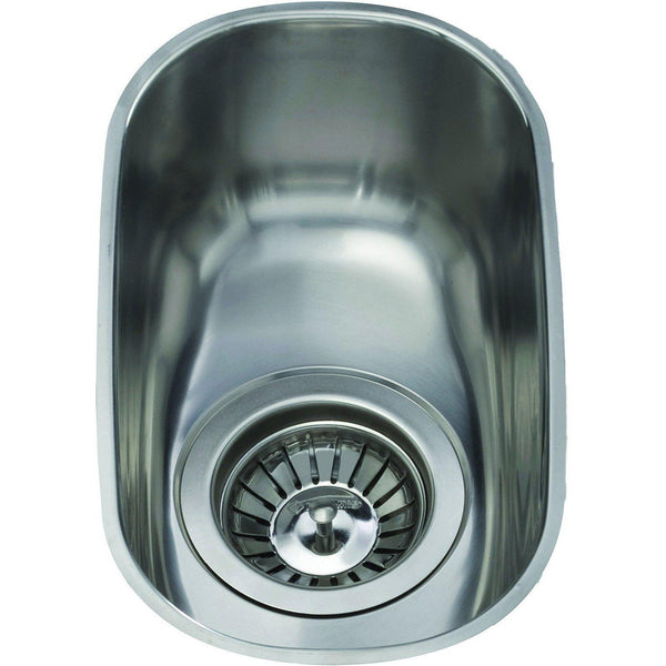 CDA KCC21SS Undermount curved single bowl sink Stainless Steel-Appliance People