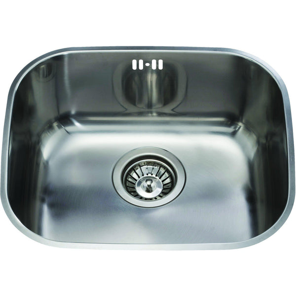 CDA KCC22SS Undermount curved single bowl sink Stainless Steel-Appliance People