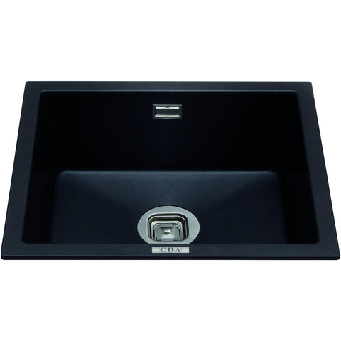 CDA KMG24BL Single bowl composite undermount/inset sink Black-Appliance People