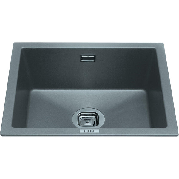 CDA KMG24GR Single bowl composite undermount/inset sink Graphite-Appliance People