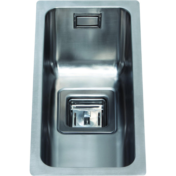 CDA KSC21SS Undermount square single bowl sink Stainless Steel-Appliance People
