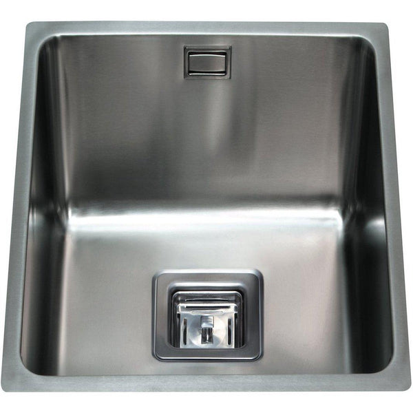 CDA KSC22SS Undermount square single bowl sink Stainless Steel-Appliance People