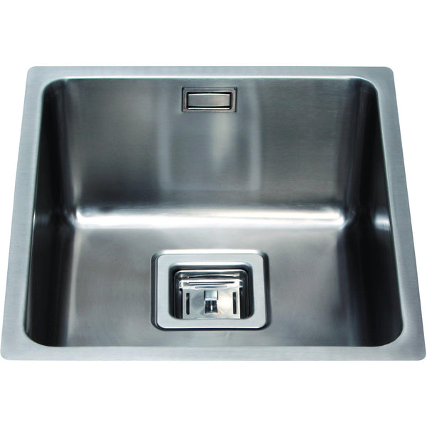 CDA KSC23SS Undermount square single bowl sink Stainless Steel-Appliance People