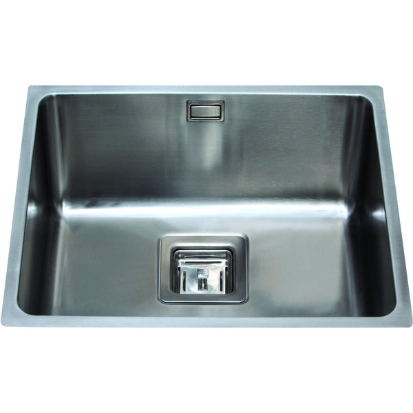 CDA KSC24SS Undermount square single bowl sink Stainless Steel-Appliance People