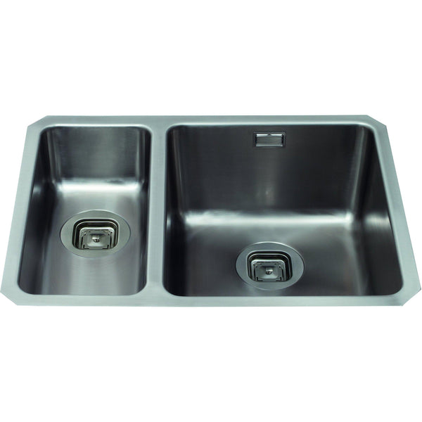 CDA KVC35LSS 1.5 bowl stainless steel undermount - small bowl on left Stainless Steel-Appliance People